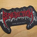 Benediction shaped logo patch