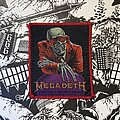 Megadeth - Patch - vintage Megadeth - Peace Sells... But Who's Buying? woven patch (red border)