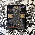 "Sodom - Patch - vintage Sodom - Persecution Mania ""golden helmet"" version woven patch"