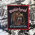 Motörhead - Patch - vintage Motörhead - Orgasmatron woven patch (red border)