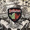 Destruction - Patch - vintage Destruction - Cracked Brain woven patch