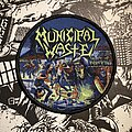 Municipal Waste - Patch - Municipal Waste - The Art of Partying woven patch
