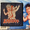 Exodus - Patch - Exodus - Bonded by Blood VTG woven patch (blue border)