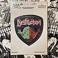 Destruction - Patch - vintage Destruction - Cracked Brain woven patch (STILL SEALED)
