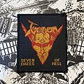 Venom - Patch - vintage Venom - Seven Dates Of Hell woven patch