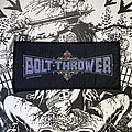 Bolt Thrower - Patch - vintage Bolt Thrower woven logo patch
