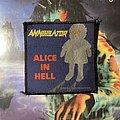 Annihilator - Patch - Annihilator - Alice in Hell VTG woven patch