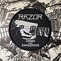 Razor - Patch - Razor - Armed and Dangerous circular woven patch