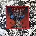 Exciter - Patch - vintage Exciter - Long Live The Loud woven patch (red border)