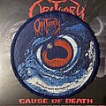 Vintage Obituary - Cause of Death circular patch