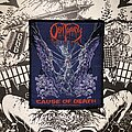 Obituary - Patch - vintage Obituary - Cause of Death woven patch