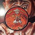 Mortal Sin - Patch - Mortal Sin - Mayhemic Destruction circular woven patch