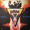 Destruction - Patch - Destruction - Infernal Overkill woven triangle patch (black border)