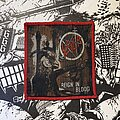 Slayer - Patch - vintage Slayer - Reign In Blood woven patch (red border)
