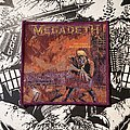 Megadeth - Patch - Megadeth - Peace Sells but Who's Buying? woven patch (purple border)