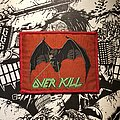 Overkill - Patch - vintage Overkill - Under the Influence (lasereyes) woven patch