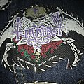 Vintage Tiamat skull and roses Woven Patch from 1993