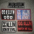 GG Allin Patch Collection