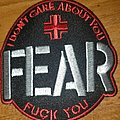 """FEAR """"I Don't Care About You, Fuck You"""" Patch"""