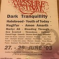 Hatebreed - Other Collectable - Pressure fest 2003 poster