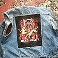 My battle jacket with Hell Awaits backpatch