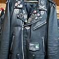 Mayhem - Battle Jacket - Black Shiny Leather