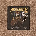 Megadeth - Patch - So Far, So Good, So What