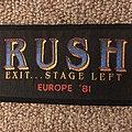 Rush European Tour 81 Patch