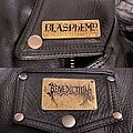 Blasphemy and Benediction etched metal patches