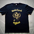 Motörhead - TShirt or Longsleeve - Motorhead England Classic Gold Metallic Gold Print