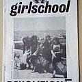 Girlschool - Other Collectable - Girlschool Original Barmy Army Demolition No.5 Fanzine