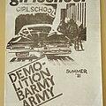Girlschool - Other Collectable - Girlschool Original Demolition Barmy Army Summer ' 81 fanzine No.1