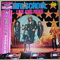 "Girlschool - Tape / Vinyl / CD / Recording etc - Girlschool Live And More ( Japan) 12"" Pic Vinyl EP"