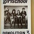 Girlschool - Other Collectable - Girlschool Original Demolition Barmy Army No.3 Fanzine