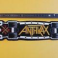 Anthrax Skateboard large (yellow) Patch