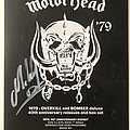 Motörhead flyer SIGNED by Mikkey Dee