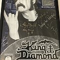King Diamond Voodoo promotion poster SIGNED by all.