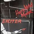 (2×) Exciter/ Heavy Metal Maniac/ lp/ 1983/ (autographed) & 2008 repress/ (splatter vinyl) Tape / Vinyl / CD / Recording etc