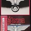 (4×) Saxon/ Wheels of Steel/ lp/ (Japanese Pressing/ & white label dj promo/ UK Pressing/ US Pressing/ promo)
