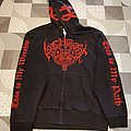 """ARCHGOAT """"The Light - Devouring Darkness"""" SIZE M Hooded Zipper (Heavy Blend Gildan zipper) Limited to 20 - 40 copies"""