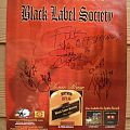 Other Collectable - Black Label Society - Sonic Brew 1999 Autographed Poster