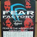 Other Collectable - Fear Factory - Fear is the Mindkiller - '1993 Australian Tour - Poster