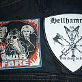 Warfare and Hellhammer woven patch