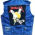 Metallica - Battle Jacket - Wrangler 1980s Denim Battle Kutte Vest Jacket Metallica Damage Inc. Backpatch