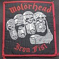 Motörhead - Patch - Motörhead 1982 Iron Fist official patch