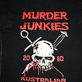 Murder Junkies - TShirt or Longsleeve - MURDER JUNKIES - Australian Tour 2010 - Official Tour-Shirt in Size L