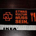 RAMMSTEIN - Etwas Kultur muss sein - Original & Official Sticker 2004