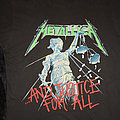 METALLICA - AND JUSTICE FOR ALL - Damaged Justice European Tour '88 - Original Tour Shirt from 1988 in Size XL