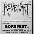 Revenant - Other Collectable - REVENANT / GOREFEST - Original Tour Poster from the European Tour 1991 - Size A2