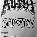Suffocation - Other Collectable - ATHEIST / SUFFOCATION - Original Tour Poster from 1992 - Size A2